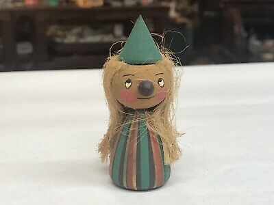 Christmas Swedish Norwegian Elf Gnome Carved Wooden Figurine Wood