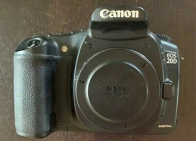 Canon EOS 20D 8.2 MP Digital SLR Camera - Black (Body Only) Good condition