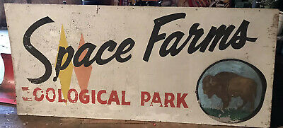 RARE Vintage Space Farms Sign - Sussex New Jersey - Ecological Park Vintage Sign