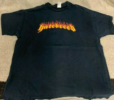 VTG Fruit of The Loom Hatebreed 'Perseverance' Metal Band Tour T Shirt Sz 2XL