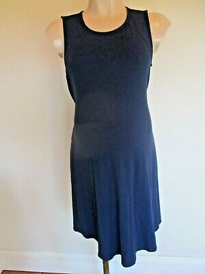 Isabella Oliver Maternity Navy Blue Sleeveless Floaty Dress Size 3 Uk 14