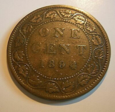 1 Cent 1894 - Variety Thick 4  - FINE .....(add lots $0.25 ea.)