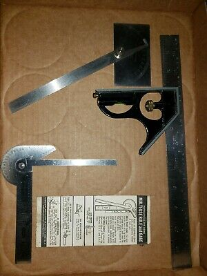 2 Craftsman Vintage Stainless Steel Protractor Angle & Multi Use Gauges Usa