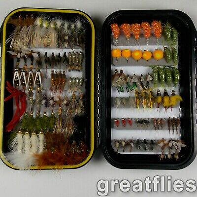 Quality Trout Fly Box  Assortment 60 California Trout Flies w//box