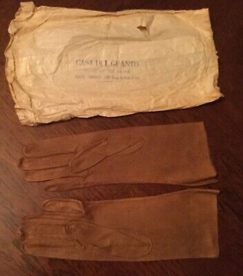 Vintage Kid Leather Italian Gloves House of the Glove Florence Italy size 7.5