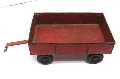 Ertl 1/32 Scale Red Die Cast Tractor Barge Wagon Working Tailgate Farm Toys 1977