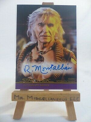 The Complete Star Trek Movies trading cards autograph A1 Ricardo Montalban Khan