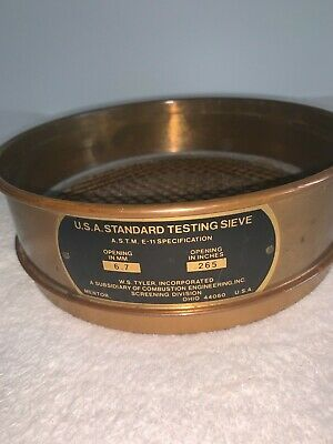 Antique Us Standard Testing Sieve The W. S. Tyler Inc.