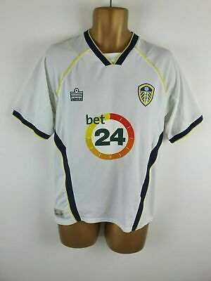 Official Admiral Leeds United Home Football Shirt Bet 24 Small Mens