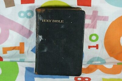 Vintage book - late 1800's - The Holy Bible - old & new Testaments - gold gilt
