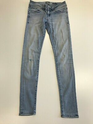 N242 Mens Superdry Super Skinny Ripped Stretch Denim Jeans Uk 8 W27 L32