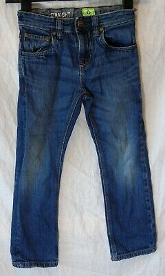 Boys Next Blue Whiskered Denim Adjustable Waist Straight Leg Jeans Age 6 Years