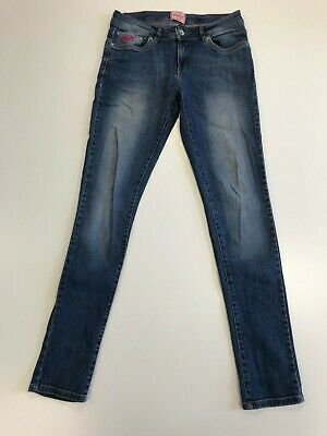 N247 Mens Superdry Faded Blue Standard Skinny Stretch Denim Jeans Uk 12 W30 L32
