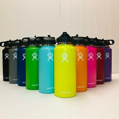 Hydro Flask Water Bottle|Stainless Steel &Vacuum Insulated 32 Oz -Multiple Caps