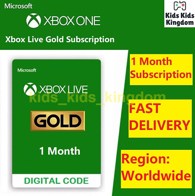 Xbox Live Gold 1 Month Membership Code - Xbox One / Xbox 360 - INSTANT Delivery