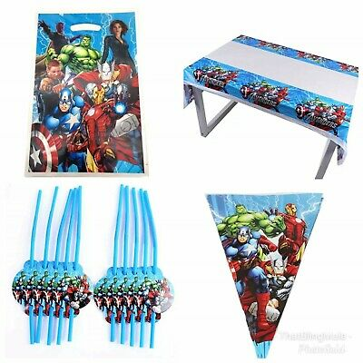 180x108cm Heroes Ironman Plastic Table Cloth Cover Party Decoration Avengers UK