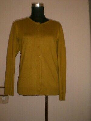 Cardigan Weste Gr.36 / 38 Woman by Tchibo gelb ocker Strickweste Strickjacke