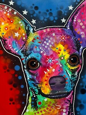 Dean Russo Art Print colorful dog direct from artist SIGNED animal chihuahua art