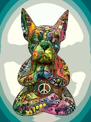 Dean Russo Art Print colorful dog direct from artist SIGNED french bulldog art