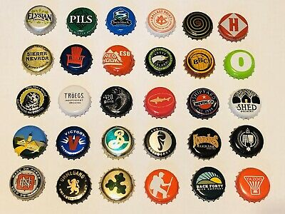 100+ [MIXED] Beer Bottle Caps {{NO DENTS}} Amazing Variety Micro Macro Breweries