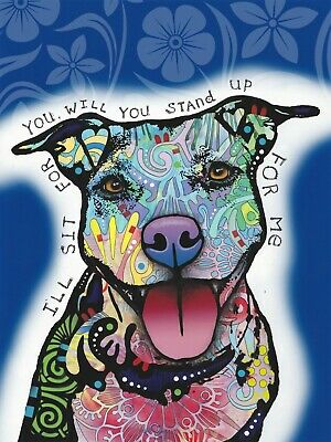Dean Russo Art Print colorful dog direct from artist SIGNED animal rescue art