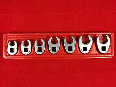 Snap-on Tools 207S-FRH Crowfoot Flare Nut Line Wrench 7 pc Set 3/8-3/4