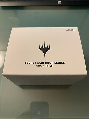 OMG Kittens! Secret Lair Drop Sealed w/ MTG Stained Glass Planeswalker and Codes