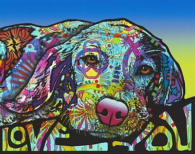 Dean Russo Art Print colorful dog direct from artist SIGNED animal hound art
