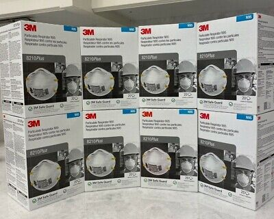 3M N95 8210 Particulate Respirator 1 Box Of 20-Masks Free Express Ship To China