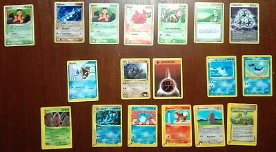 Lotto 18 Card POKEMON AQUAPOLIS EX UNSEEN FORCES GYM HEROES NEO DESTINY ITA ENG