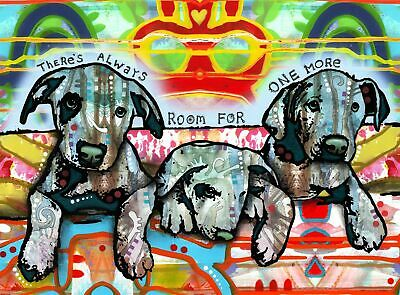 Dean Russo Art Print colorful dog direct from artist SIGNED animal puppy art