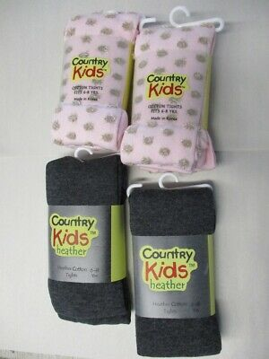 Lot of 4 Pairs of Girls Tight by Country Kids - NWT - Size 6-8 Years