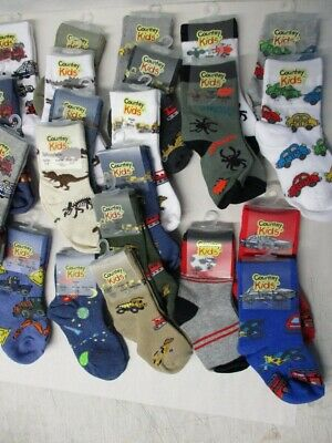 Lot of 23 Pairs of Boys Socks by Country Kids - NWT - Sock Size 5-6