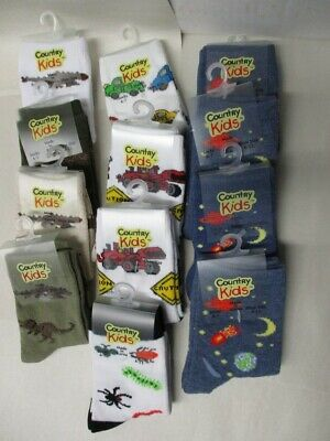Lot of 12 Pairs of Boys Socks by Country Kids - NWT - Sock Size 6-7