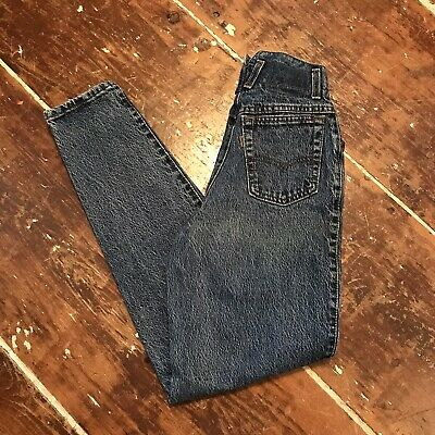 Vintage 80s Levis Stonewashed Tapered Fishtail Womens 5 Jeans 23x30 Faded Mom