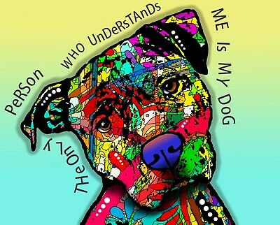 Dean Russo Art Print colorful dog direct from artist SIGNED animal pet art