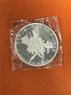 1969 Guinea '10th Ann. Independence' 500 franc .999 Proof