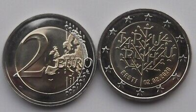 2 Euro commémorative Estonie 2020 - Traité de Tartu UNC