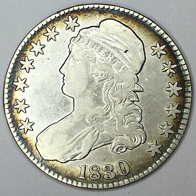1830 50C Capped Bust Half Dollar XF Details Uncertified