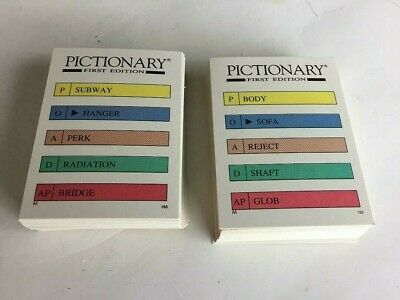 Pictionary party edition board game replacement pieces qty 50 random cards