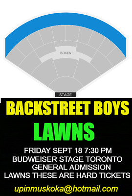 2 Backstreet Boys Dna Tour General Admission Tix Toronto Friday Sept 18 7:30Pm