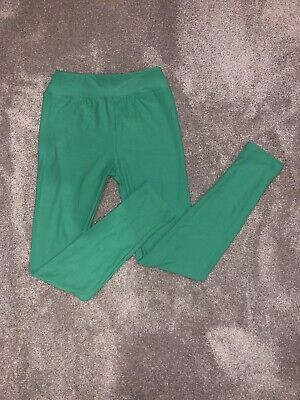 Barely Worn Lularoe Kids Tween 8-12 Leggings Green St. Patrick's day