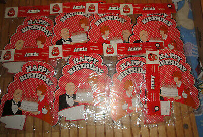 Vintage Amscan 1981 Little Orphan Annie Happy Birthday Honeycomb Centerpiece Lot