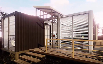 2 x 320SqFt Shipping Container Home 2Bd/1Bth/3Car 1752 sqft 160Sqft GuestHse