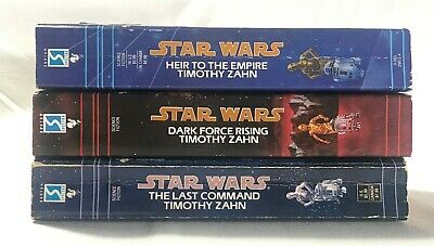 Star Wars THE THRAWN TRILOGY, 3 Book Set Lot Heir to Empire Dark Force Last Comm