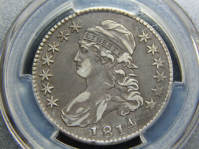 1814 50C Capped Bust Half Dollar E/A VF-35 PCGS, Really Original!