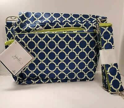 JuJuBe Better Be Royal Envy Messenger Diaper Bag New W/ Tag Blue