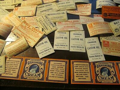 Huge Lot Of Pharmacy Labels;Lot # L  8
