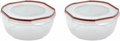 Sterilite 03958602 Ultra Seal 8.1 Quart Bowl, Clear Lid Amp; Base W/ Red Rocket