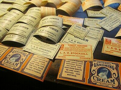 Huge Lot Of Pharmacy Labels;Lot # L 9